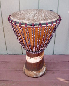 African djembe hand drum.
