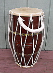 Dholak hand drum with brand new rope.
