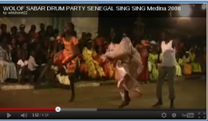 Sabar celebration in an African village.