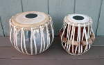 Just rebuilt tabla set with new tasmas, gattas and pudis.