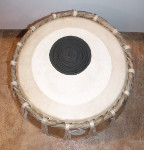 Tabla bayan with a new drum head.