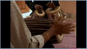 Tabla and mridangam duet.